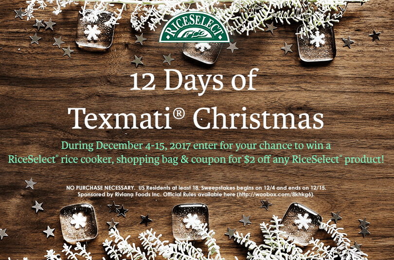 "RiceSelect® ""The 12 Days of Texmati® Christmas"""