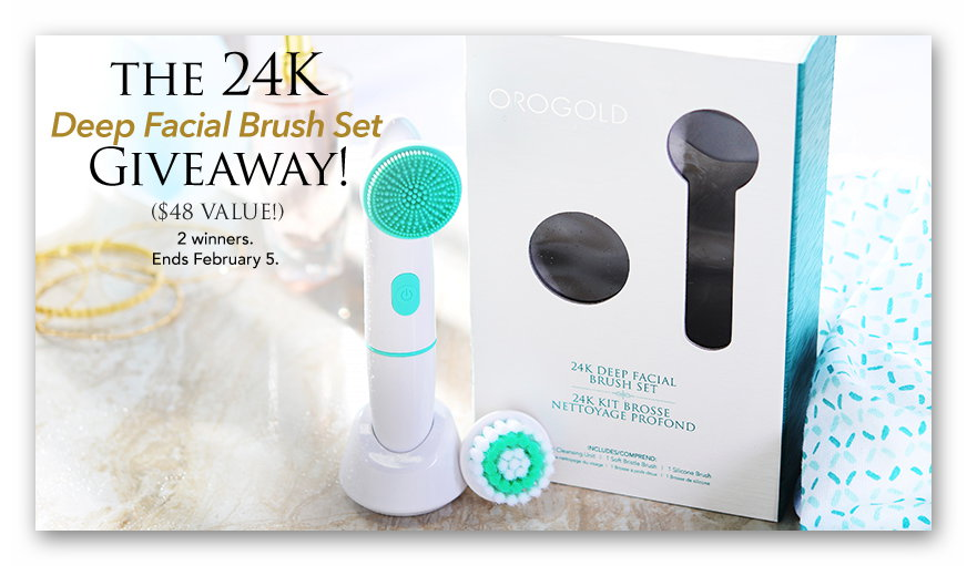 Orogold 24K Deep Facial Brush Giveaway