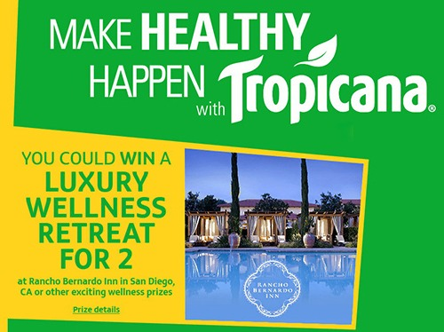 Tropicana – Make Healthy Happen Instant Win Game