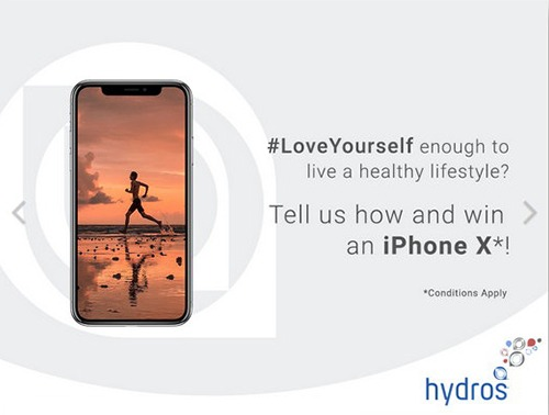 Win an iPhone X with Hydros