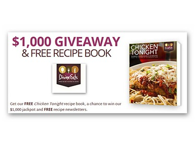 Divine Eats $1,000 Giveaway and Free Recipe Book