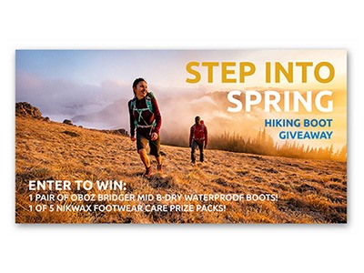 Nikwax Hiking Boot Giveaway