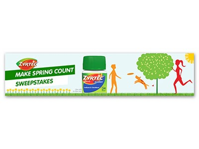 Zyrtec Make Spring Count Sweepstakes & Instant Win Game