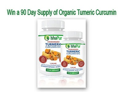 Win a 90 day supply of Organic Turmeric Curcumin
