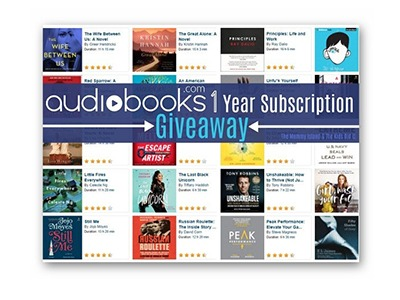 Win a 1-Year Audiobooks.com Subscription