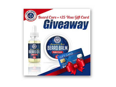Win a $25 Visa Gift Card & Beard Care Set