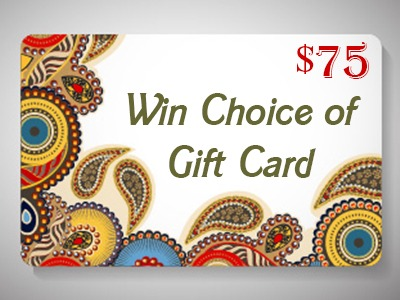 Win Choice of $75 Gift Card or PayPal (Worldwide)