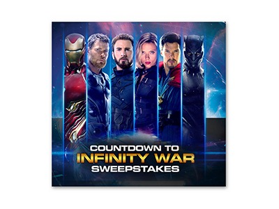 Countdown to Infinity War Sweepstakes