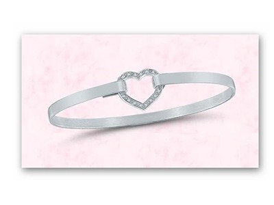 Handmade Silver and Diamond Heart Bracelet Giveaway
