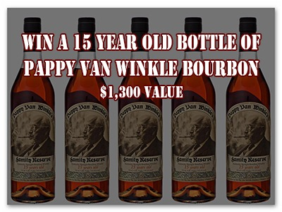 Win a 15 Year Old Bottle of Pappy Van Winkle Bourbon