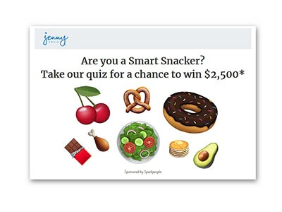Jenny Craig Snacker Style Sweepstakes