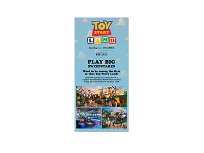 Toy Story Land Play Big Sweepstakes