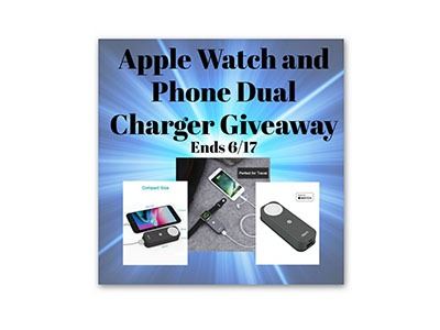 Apple Watch and Phone Dual Charger Giveaway
