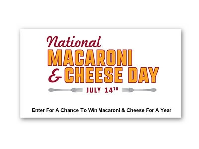 Main St Bistro Macaroni and Cheese Day Sweepstakes