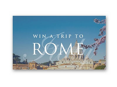 Win a Trip to Rome