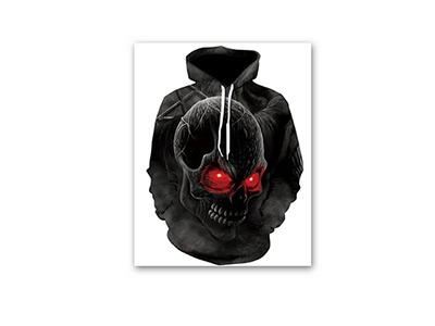 "Win a ""Feel My Wrath"" 3D Skull Hoodie"