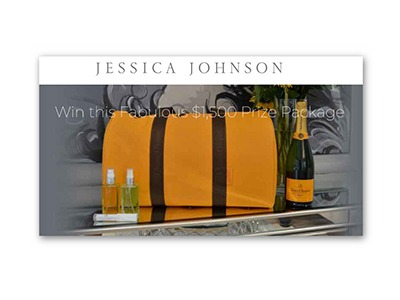 $1500 Jessica Johnson Beauty Summer Sweepstakes