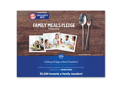 Egglands Best Family Meals Pledge Instant Win Game