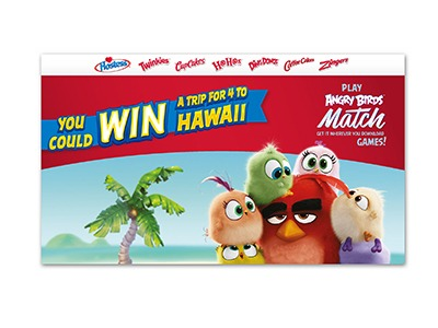 Hostess Angry Bird Hawaii Vacation Sweepstakes