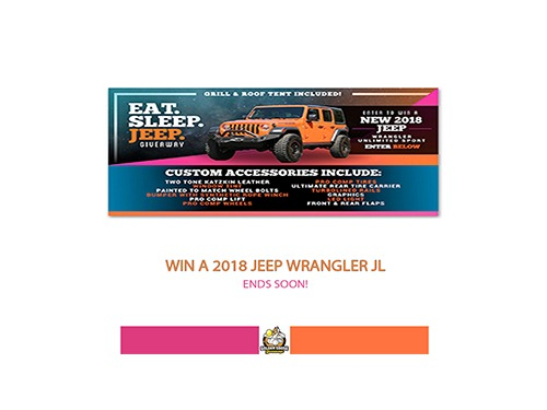 eat sleep jeep giveaway
