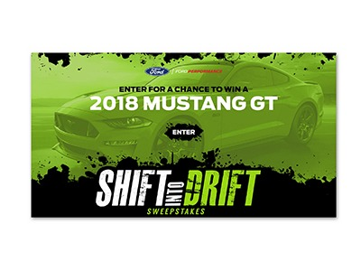 Shift into Drift Ford Mustang GT Sweepstakes