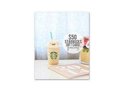 $50 Starbucks Gift Card Giveaway
