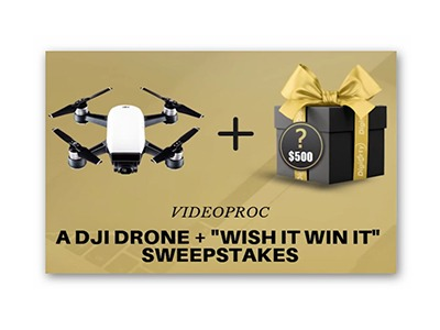 Win a $399 DJI Spark and $500 Video Gear Sweepstakes
