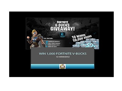 Win 1000 Fortnite V-Bucks