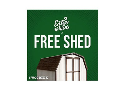 Win a Woodtex Shed