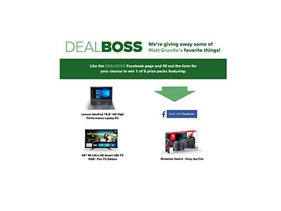 DealBoss Favorite Things Sweepstakes