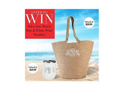 Win a Eden Jute Beach Tote and Wine Tumbler