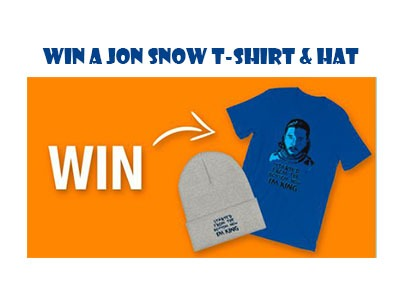 Win a Jon Snow T-Shirt and Hat