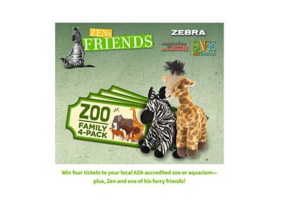 Win 4 Tickets to Local Zoo or Aquarium