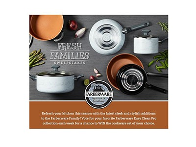 Farberware Fresh Families Sweepstakes