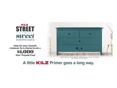 KILZ Street to Sweet Sweepstakes