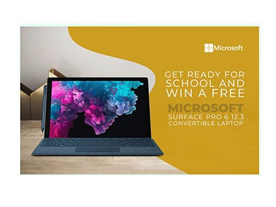 Win a Microsoft Surface Pro Laptop