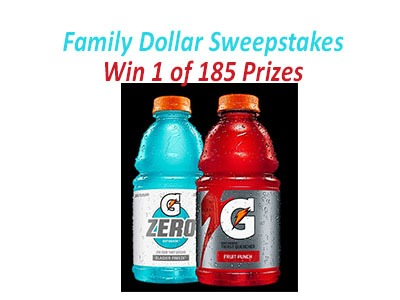 Gatorade Fitness Sweepstakes At Family Dollar
