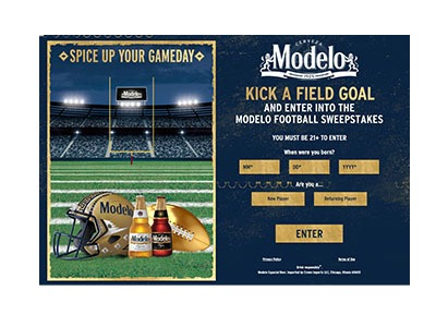 Modelo Football Instant Win Sweepstakes