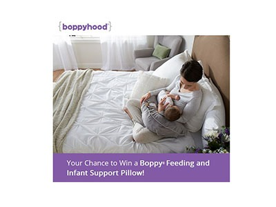 Win a Boppy Feeding and Infant Support Pillow