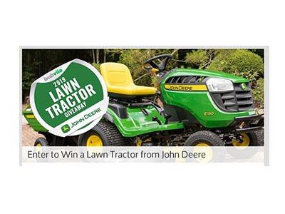 Win a John Deere Lawn Tractor