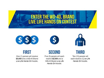 WD-40 Live Life Hands on Contest -