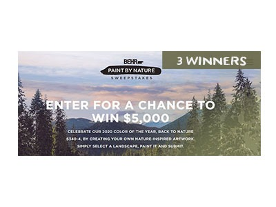 BEHR Paint by Nature Sweepstakes