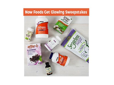 Now Foods Get Glowing Sweepstakes