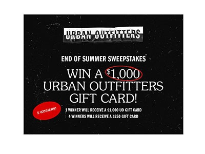 Urban Outfitters Gift Card Giveaway