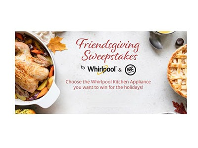 Whirlpool Friendsgiving Sweepstakes