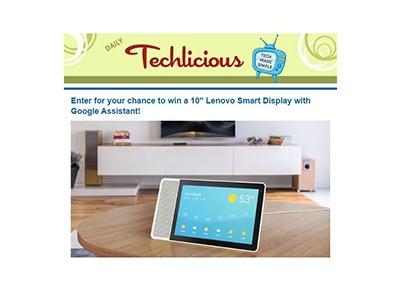 Techlicious Lenovo Smart Display Sweepstakes