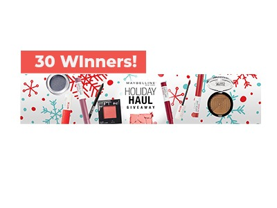 Maybelline Holiday Haul Sweepstakes