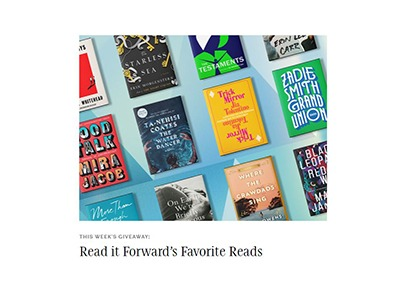 Read it Forward Favorite Reads Sweepstakes