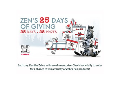 Zebra Pen 25 days of Giving Sweepstakes