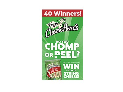 Frigo Cheeseheads Chomp vs Peel Sweepstakes